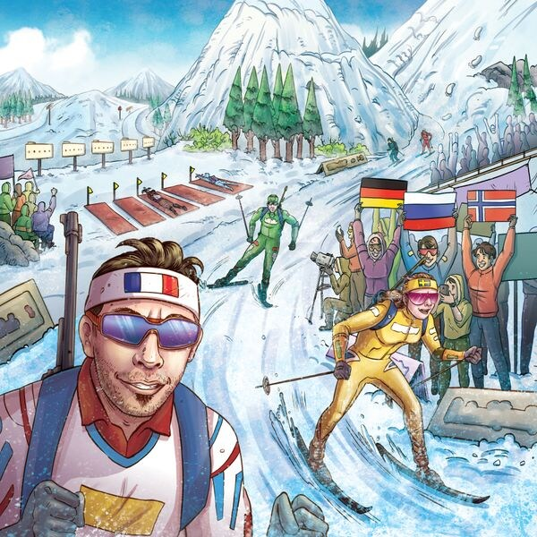 Framsidas bild på brädspelet Ski Tour Biathlon