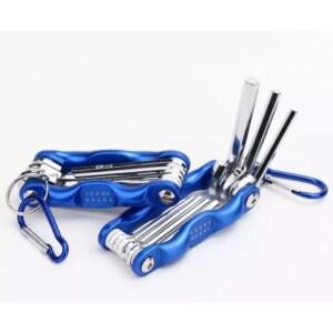 Insex nycklar med de vanligaste storlekarna