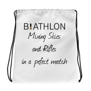 Dragsnöre påse Biathlon brand för träningskläder