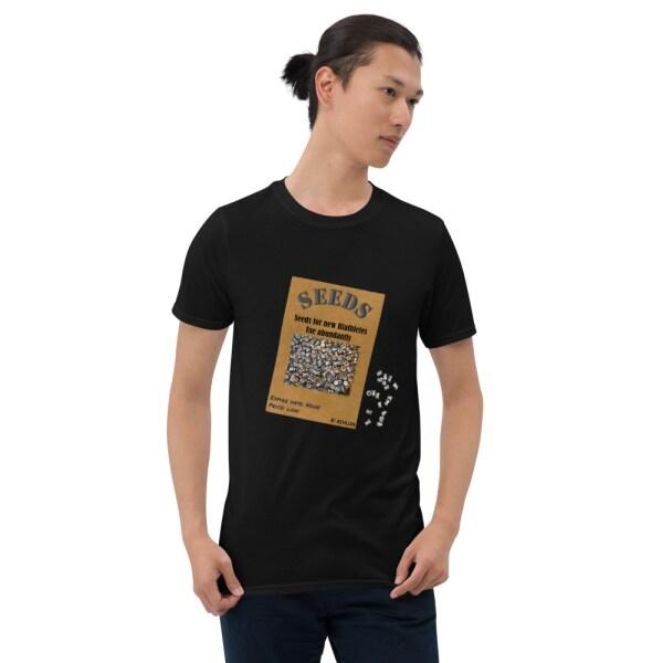 T-shirt som promotar luftgevärsskidskytte i svart