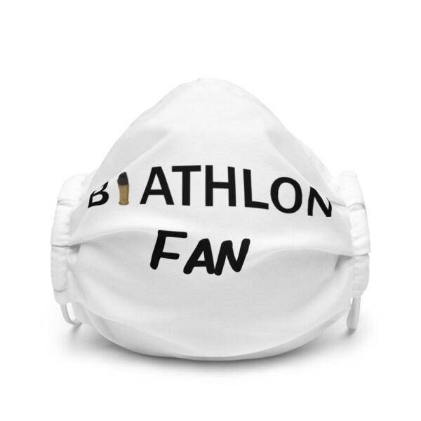 Ansiktsmask biathlon Fan -vit