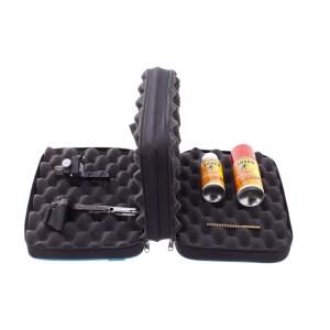 Väskan med två avdelningar som kan användas till slutstycket och verktyg